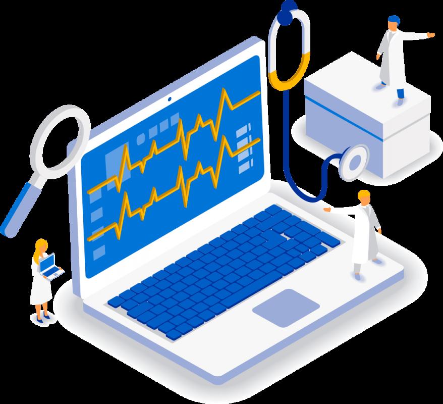 Компьютер на приеме врача